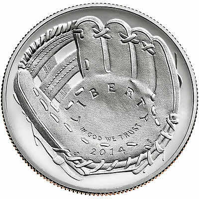 2014 Baseball Hall of Fame Uncirculated Half-Dollar with COA Mint in Box