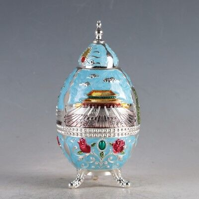 Chinese Cloisonne Handmade Imperial Palace Toothpick Box  JTL3017