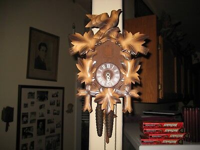 German One Day Full Sized Cuckoo Clock  Immaculate Running Perfect and Crispy !