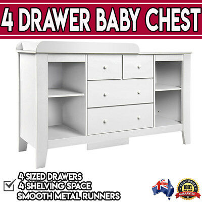 White Baby Toddler Multi Diaper Table Drawer Change Dresser Cabinet Storage