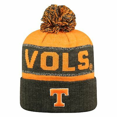 d45c335ae6c Tennessee Vols Volunteers Ncaa Tow 3-Tone Striped Knit Beanie Cap Hat Pom  Nwt