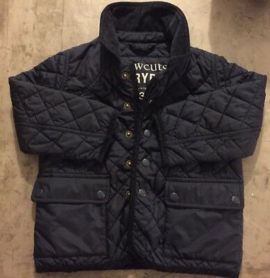 Crewcuts Boys Girls Quilted Navy Barn Jacket Size 3 02815 2014