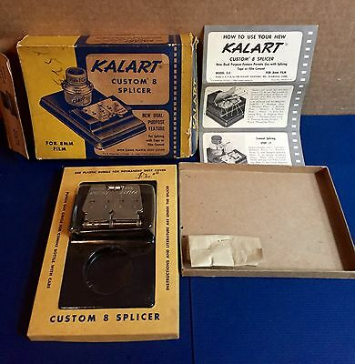 Vintage KALART CUSTOM 8 SPLICER - 8mm Film Splicer in Orig. Box - Kalart# S-4