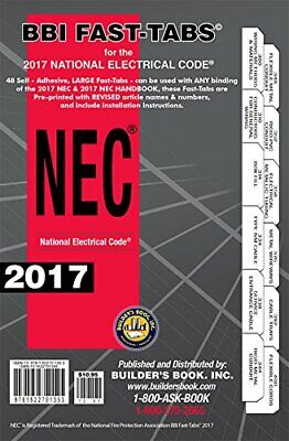 2017 National Electrical Code NEC Softcover Organize Tabs Handbook Builders Book