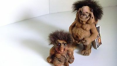 Original Nyform Troll No.124 (16 cm) with sticker and booklet and Troll (8 cm)