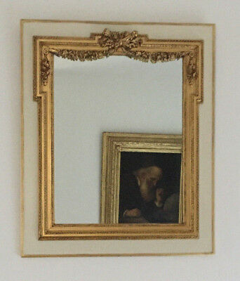 Antique Carved Empire Style Gilt Timber Framed Mirror, size 80 x 65 cm
