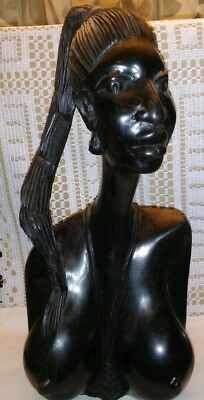 African  Female head Statue. (Beautiful)!
