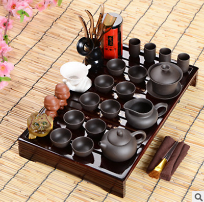 Yixing purple sand ceramic ice cracked kungfu tea set tea set tea set tea doctor