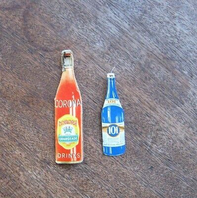 Figural Antique Corona Orangeade Drink/Bottle-Shape Needle Folder + 101 Threader