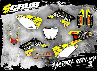 SCRUB Suzuki RMz 250 2010-2017 Grafik Sticker Dekor-Set '10-'17
