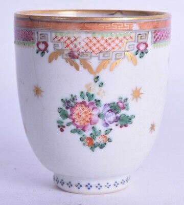18th c chinese export famille rose porcelain coffee cup qianlong period antique