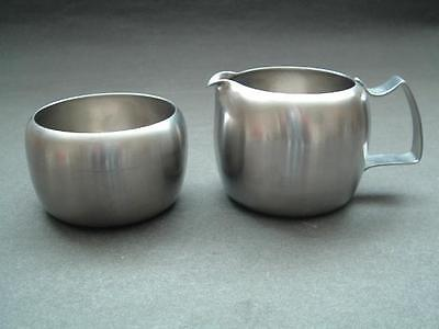 Old Hall Stainless Steel Retro Petite Sugar Bowl & Jug Design Centre London