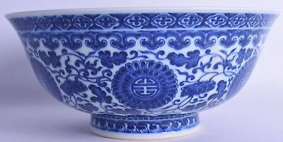 large chinese blue and white porcelain bowl bearing qianlong marks chien lung mk