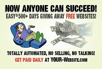 Help Wanted Easy $500 + Days!FREE WEBSITE + FREE ADVERTISING + DIRECT DEPOSIT!!