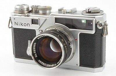 Ex Nikon SP 35mm Rangefinder Film Camera w/ NIKKOR-S.C 5cm 50mm F/1.4 from JAPAN