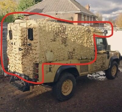 Land Rover defender snatch front and rear cab canvas cover