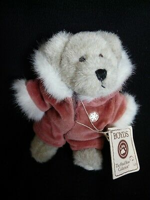 Boyds Teddybär Maddie Frostbeary Top Zustand The Head Bean Collection