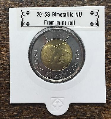 CANADA 2015 New 2 dollar TOONIES (BU directly from mint roll)