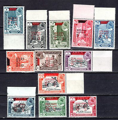 Aden 1966 South Arabian Federation Full Set Of Mnh Stamps Unmounted Mint