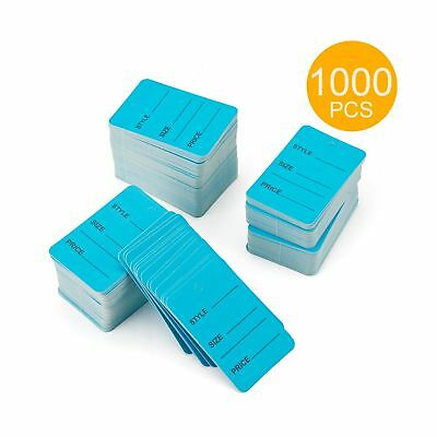 1000pcs Blue Color One Part Unstrung Perforated Price Coupon Tag Clothing Price