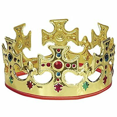 Unique Kitchen & Dining Features Gold Plastic Jeweled King Crown (3)