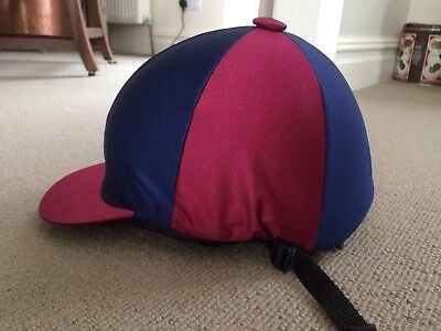 Childs Horse Riding Hat Helmet Silk 54-55cm