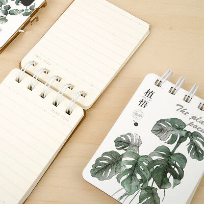 """""""Green Leaves Coil"""" 1pc Cute Small Mini Diary Notebook Memo Pad Journal Spiral"""