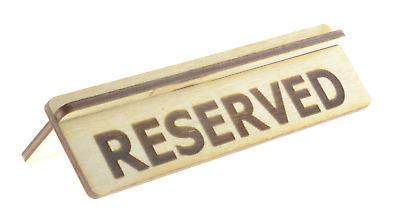 Wooden Reserved Table Sign For Restaurants, Bars and Cafes