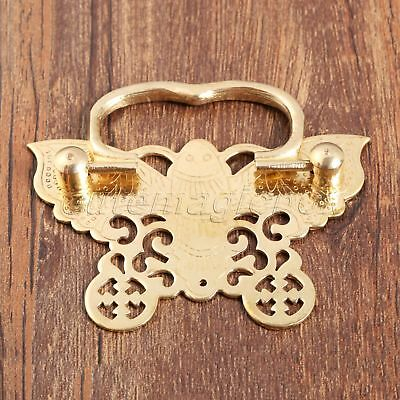 Chinese Vintage Style 1X Cabinet Dresser Drawer Butterfly Brass Handle Pull Knob