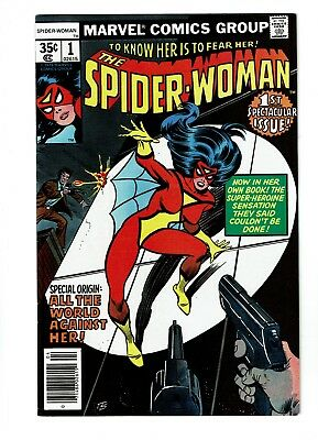 Spider-Woman #1, VF+ 8.5, 1st Appearance Jonathan Drew