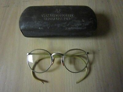 Vintage American Optical Fulvue Safety Glasses Goggles Clear Lenses Steampunk