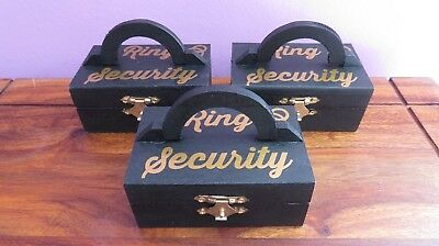 RING SECURITY Box Page Boy Wedding Ring Box comes with ring