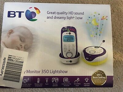 New BT 350 Digital Baby Monitor With Lightshow and 18 Lullabies & Temperature