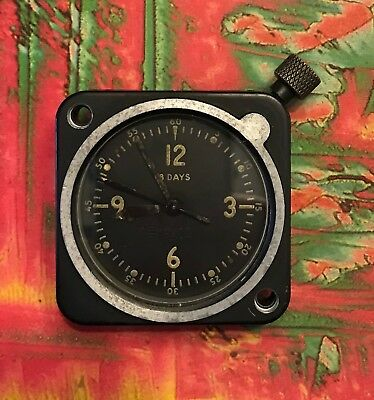 Vintage Wittenauer 8 Day Aviation Clock Cockpit Aircraft Military LeCoultre Mvmt