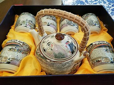Jingdezhen Chinese Tea Set 6 cups and pot New