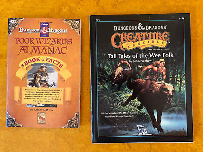 D&D Tall Tales of The Wee Folk 1989, Poor Wizards Almanac 1992, Dragon #147 1989