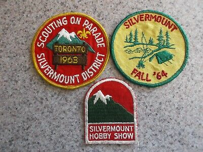 Boy Scouts Of Canada  Silvermount District 1963 - 1964 In Gtr Region Patch/badge