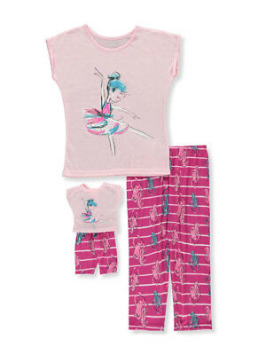 18 20  PJs JUSTICE Girls Dare to be Unique Narwhal Pajama New