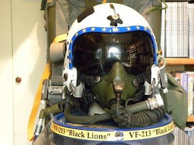 "VF-213 ""Black Lions"" HGU-33P / MBU-14P Dipslay w/Head & Rotating base."