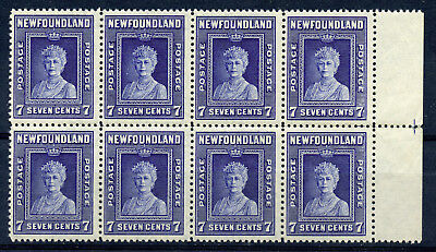 Newfoundland #258i F/VF MNH block of 8, right pair without watermark CV $708