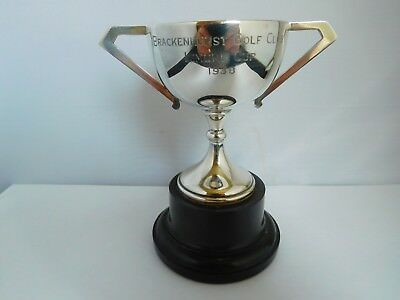 Lovely Quality English Sterling Silver Art Deco Golf Trophy Cup