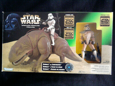 STAR WARS POTF2 DEWBACK AND SANDTROOPER in OVP von Kenner 1997