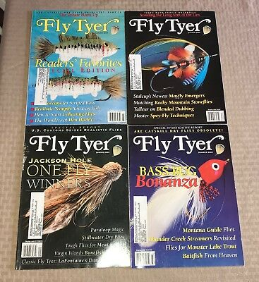 4 FLY TYER magazine fly fishing sports fish tackle