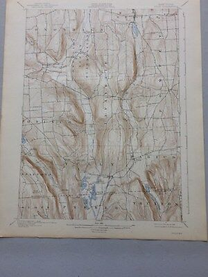 USGS Antique Topographic Map, Tully, NY 1897, Edition of 1900, Reprinted 1939