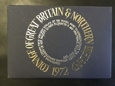 1972 Great Britain And Northern Ireland Proof Coins Set !