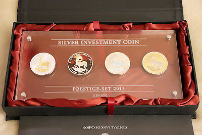 Silver Investment Coin Prestige-Set 2013 Limited Edition No. 1139 / 3000 4x 1oz.