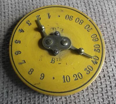 Vintage Round Wood & Metal Hand Calculator Tailor's Tool? Counting Device?
