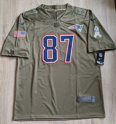 NFL New England Patriots Salute to Service Jersey Gr. L #87 Rob Gronkowski