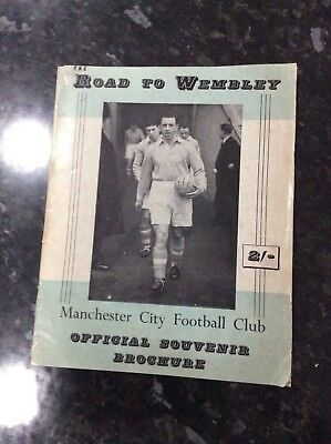 Fa Cup Final 1955 Manchester City  Brochure The Road To Wembley