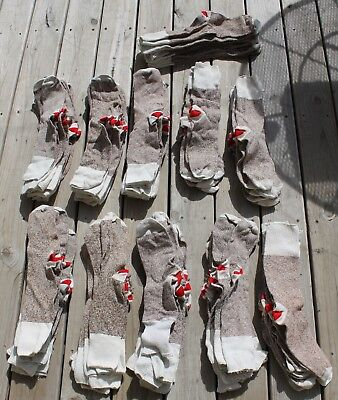 56 pair Rockford RED HEEL socks,4 crafts,100%orig.Nelson Knitting,all have flaws